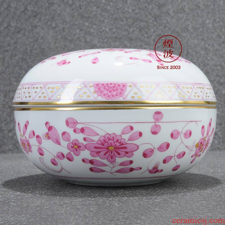 Germany mason MEISSEN porcelain new clipping India flowers decorative candy box POTS store content box