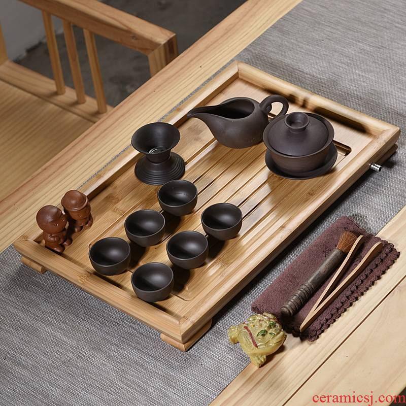 Hui shi purple sand tea set home sitting room is a small set of tea sets from the small tea tea sets are it tea cups