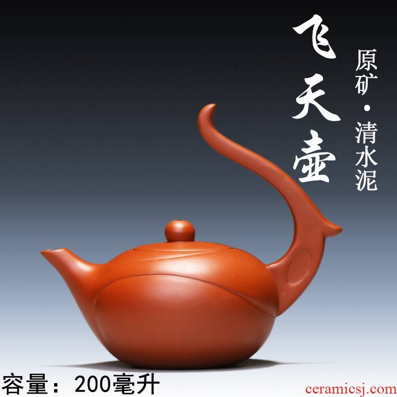 Yixing authentic checking ceramic tea pot - authentic all famous purple sand tea are it clearance flying motorcycle it