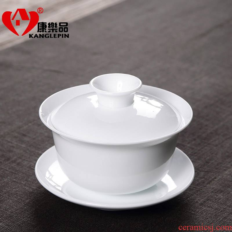 Recreational product blue - and - white tureen household ceramic teapot large blue and white porcelain is kung fu tea set three cup bowl bowl of kung fu