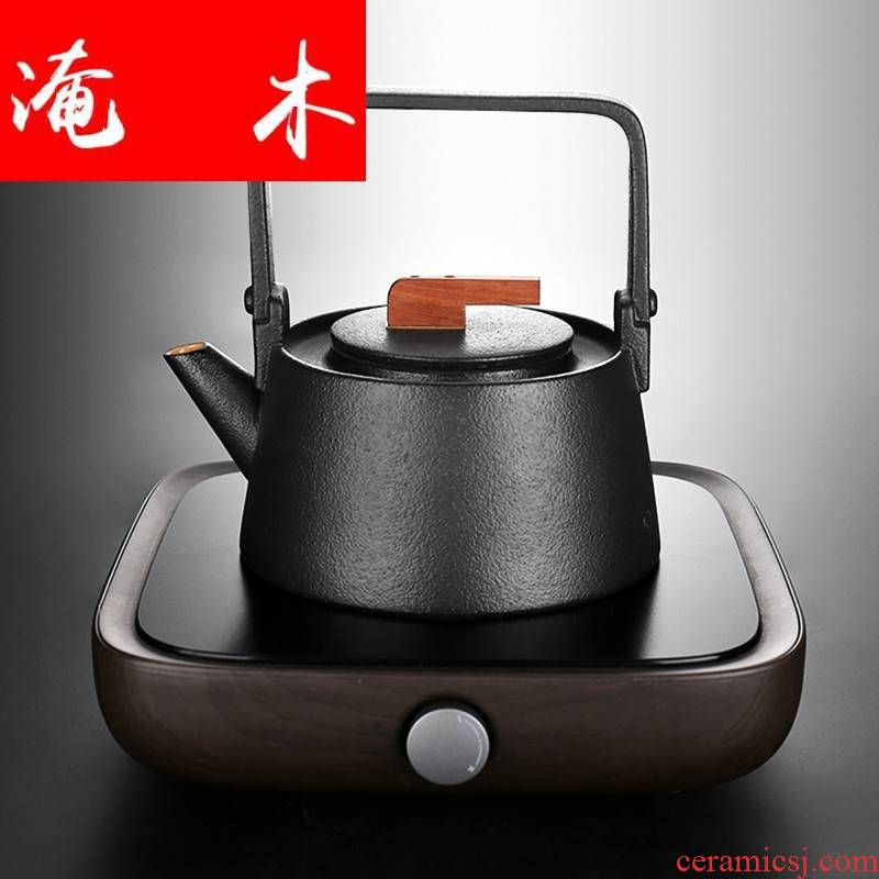 Flooded wooden household electrical TaoLu ceramic girder teapot tea boiled tea is tea stove kungfu iron pot induction cooker five lines of fire
