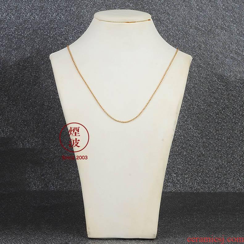 Those German ms mason MEISSEN porcelain platinum rose gold necklace, necklace