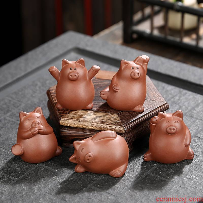 Hui shi spoil furnishing articles suit play tea tea art creative purple sand tea to raise pig tea pet home office home furnishing articles