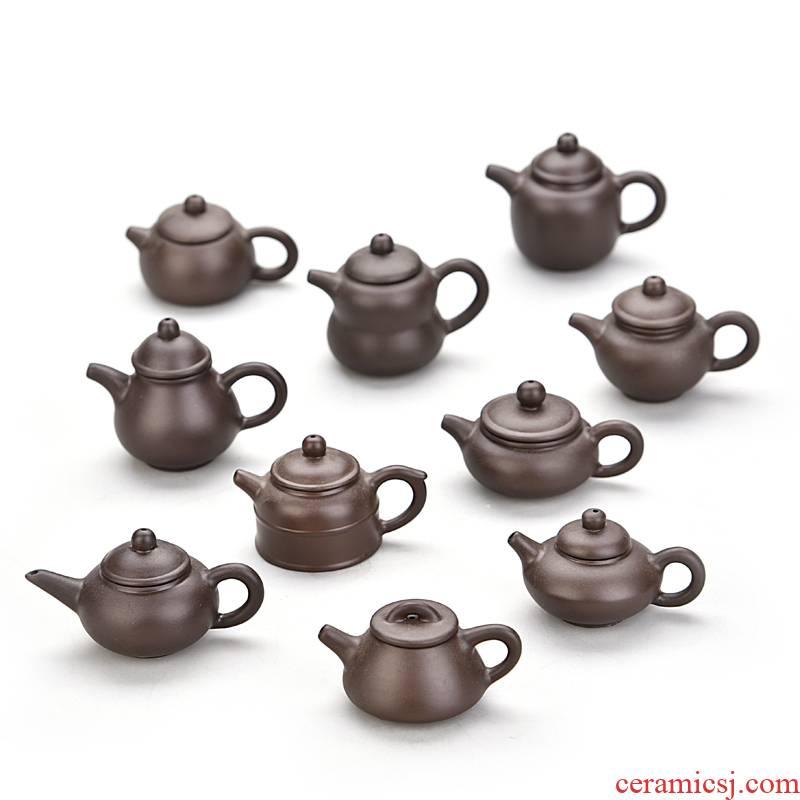 Hui shi creative mini it tea pet pocket hand put the POTS, little teapot handstand yixing fingertips xi shi tea POTS