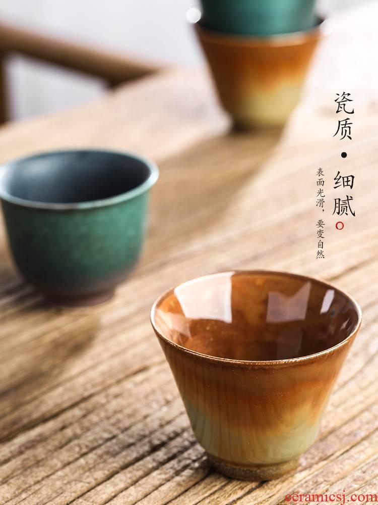 Jingdezhen checking sample tea cup single CPU kung fu tea tea masters cup single clay up, ceramic tea set