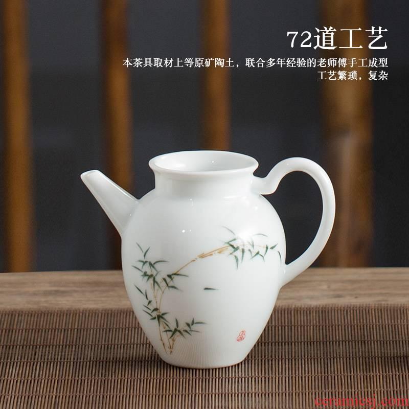 Jingdezhen hand - made sweet white ceramic fair keller kung fu tea tea sea portion evenly cup of tea, tea tea accessories