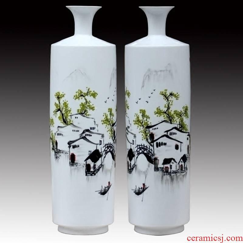I and contracted in jingdezhen ceramics dried flowers big vase home sitting room hotel landing crafts decorations