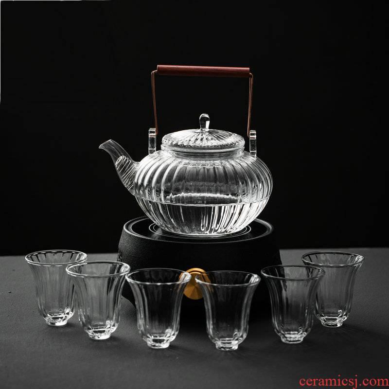 Japanese teapot heat - resistant glass girder TaoLu pot pot electricity heating household kung fu tea tea cup