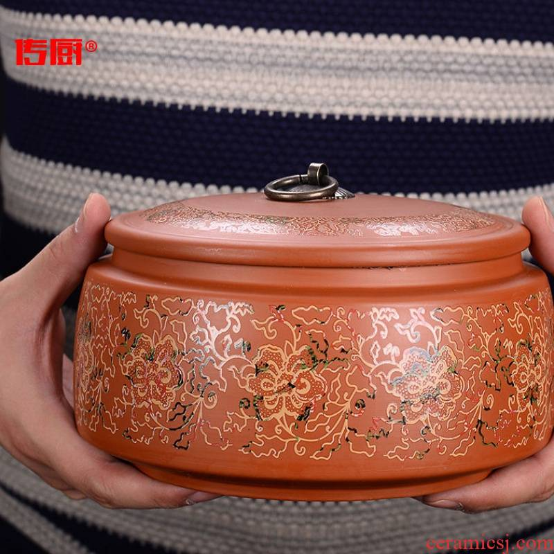 The kitchen violet arenaceous caddy fixings optional along an abundant distribution 】 【 large storage tanks puer tea as cans ceramic seal