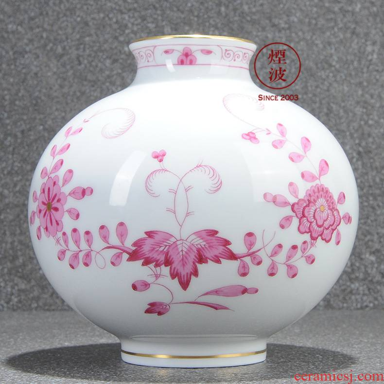 German mason MEISSEN porcelain magic flower vase home furnishing articles 90 mm wave powder India