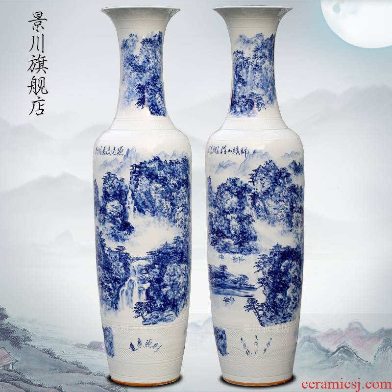 Jingdezhen porcelain has a long history in the hand - made ceramics from the sitting room of large vase hotel furnishing articles shop decoration