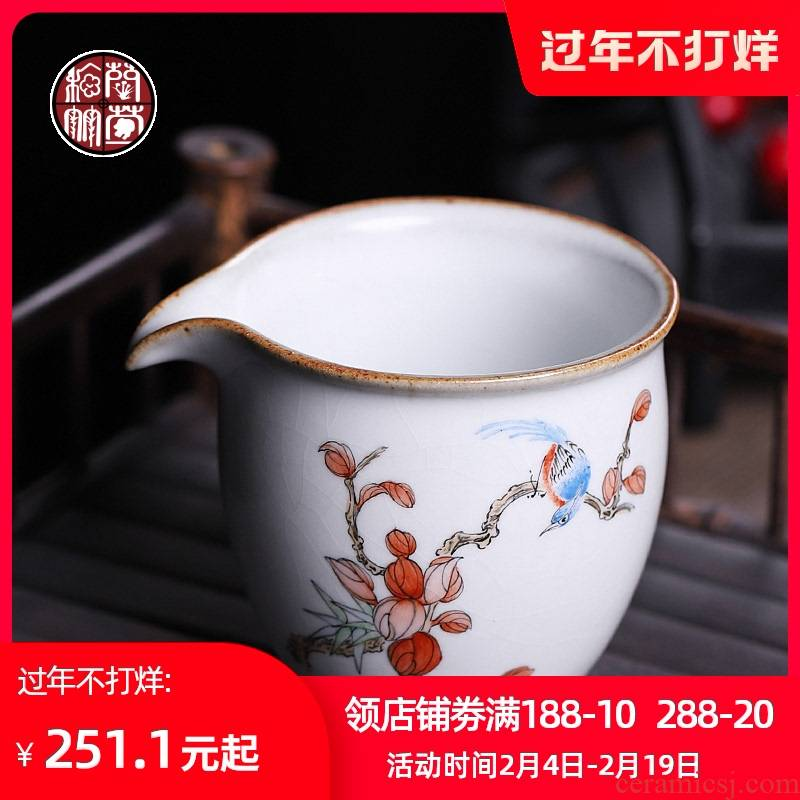 Fair your porcelain cup tea ware checking ceramic creative hand - made painting of flowers and points to open the slice to hold to hot tea sea kunfu tea cup