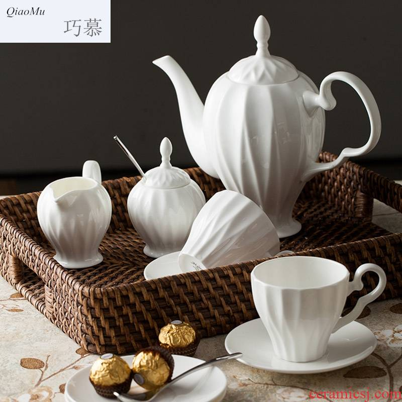 Qiao mu ceramic coffee cup suit English ipads China tea coffee pot with restoring ancient ways afternoon tea, red tea cups