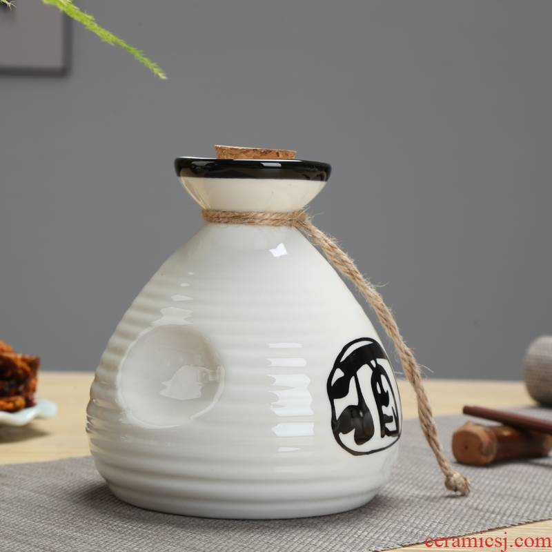 Hip flask ceramic wine Japanese - style wine wine and liquor points warm flagon flagon hot Hip restaurant food wine