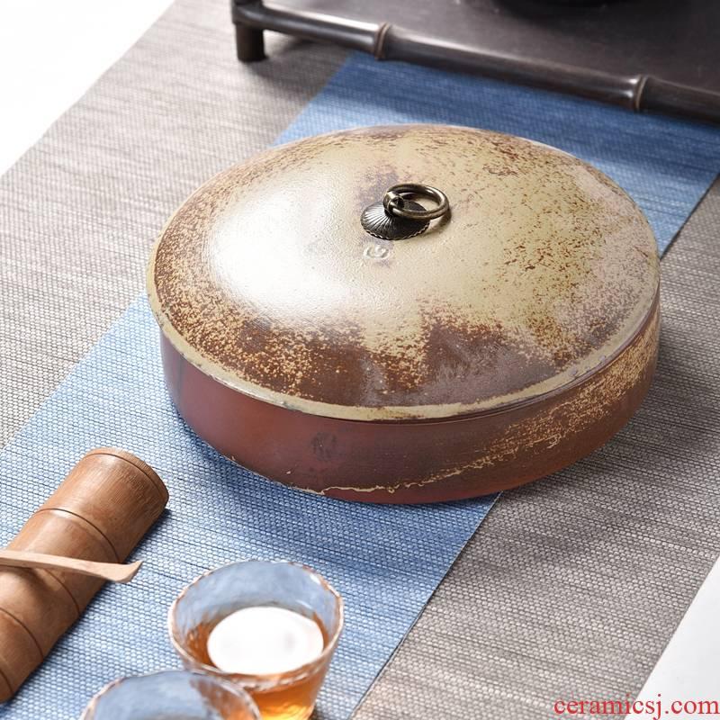 Hui shi elder brother up with ceramic storage tanks seal pot pu 'er tea caddy fixings tea cake tin box size