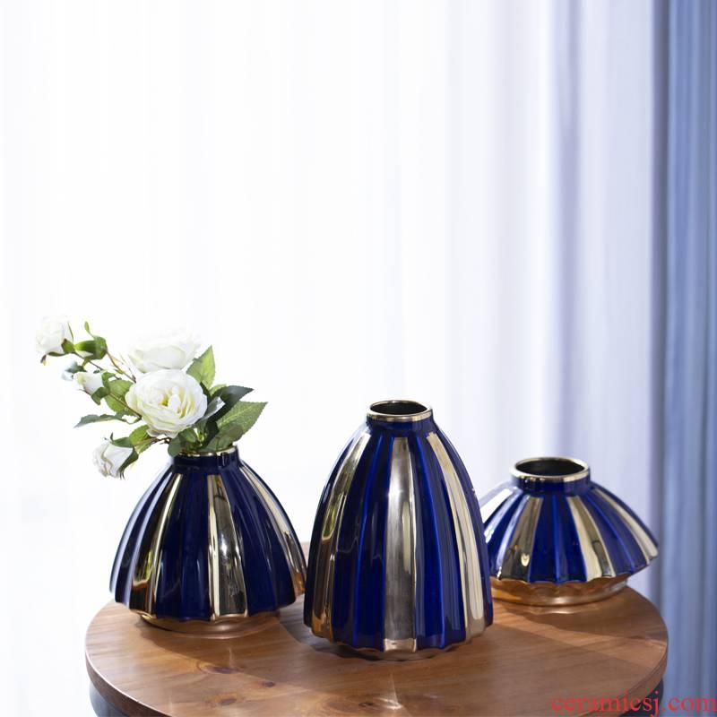 I and contracted vase furnishing articles vase vases, flower arrangement sitting room hotel furnishing articles furnishing articles of jingdezhen ceramics