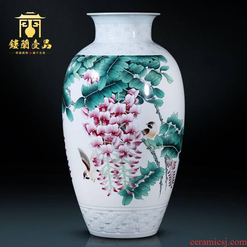 The Master of jingdezhen ceramic all hand - made sabingga sukdun dergici jimbi large decoration as vases, flower arranging decorative furnishing articles