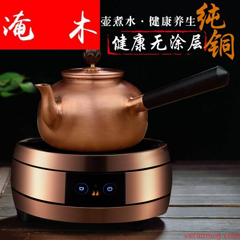 Submerged wood craft pure copper pot kettle copper teapot electric TaoLu thickening side boil what kung fu tea set the teapot