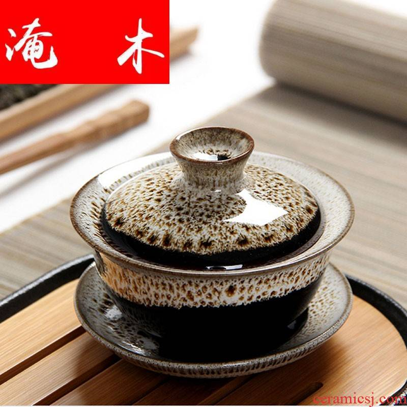 Submerged wood new high temperature change color variable glaze color tureen only three bowl kung fu tea tea for special ceramic ipads China characteristics