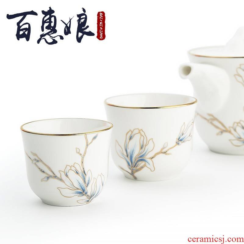 (niang travel a pot of two cups of tea ipads China kung fu tea set gift boxes