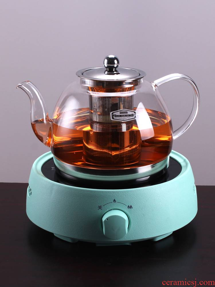 Boiling tea ware glass teapot small curing pot induction cooker dedicated to burn blisters household electric teapot TaoLu suits for