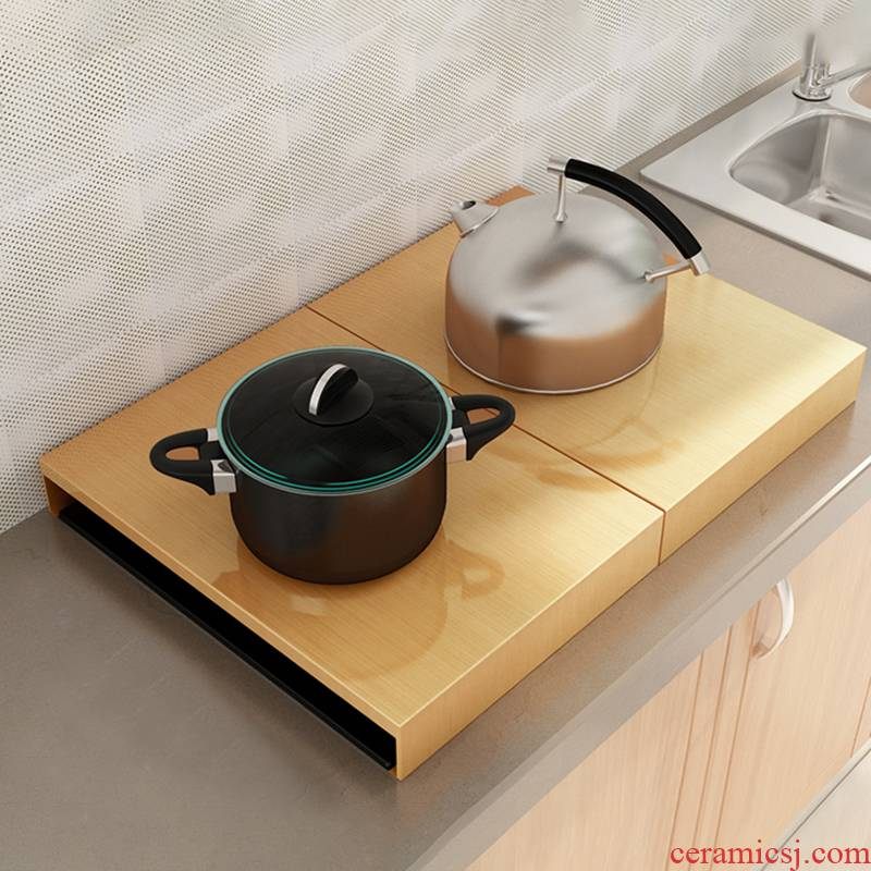 Gas buner cover plate to cover the kitchen stainless steel base of induction cooker shelf Gas stove shelf punch