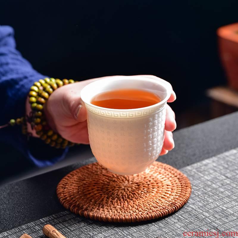 The Sample tea cup jade porcelain dehua white porcelain ceramic masters cup individual cup single CPU kung fu tea cups tea cup