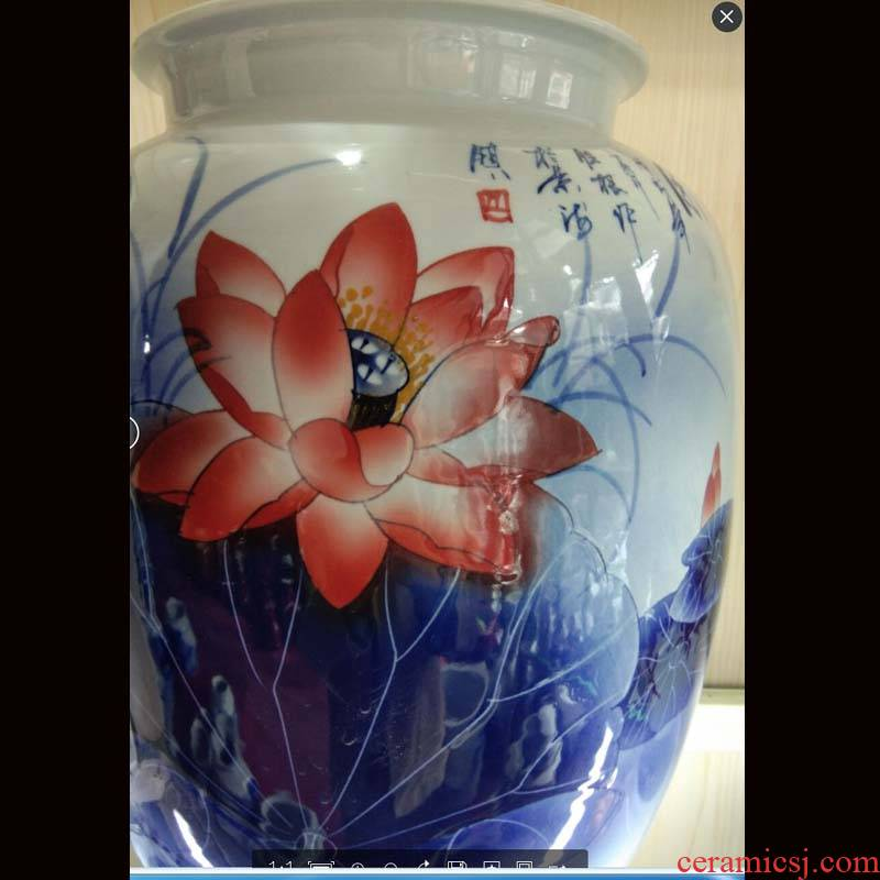 Jingdezhen porcelain hand - made lotus flower vase to his new fashion crafts cabinet vase handicraft furnishing articles