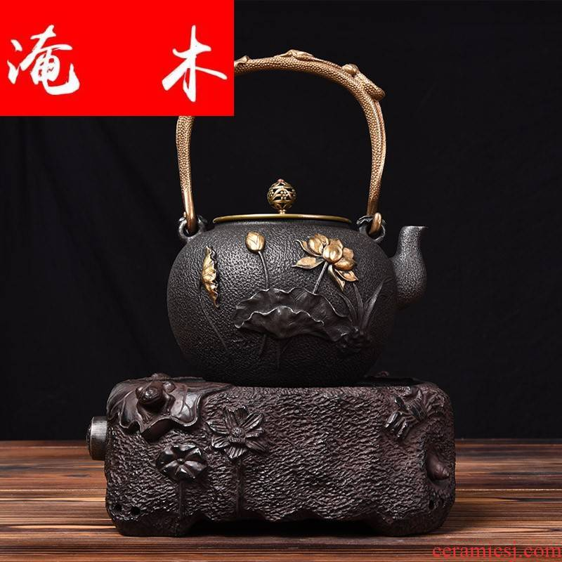Submerged wood and iron pot of electric TaoLu suit Japanese iron hand mercifully tea pot to boil tea water boiler kung fu tea set