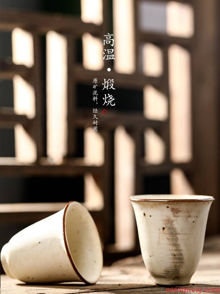 Jingdezhen checking sample tea cup single cup clay master cup single kung fu tea fragrance - smelling cup ceramic cups, getting out