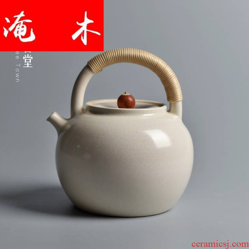 Submerged wood, manual electric cooking pot of jingdezhen ceramic teapot girder are large kung fu TaoLu direct fire boiled tea