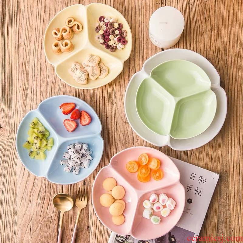 Ceramic frame plate household snack plate dried fruit candy dish plates creative space dish dish dish fruit snacks