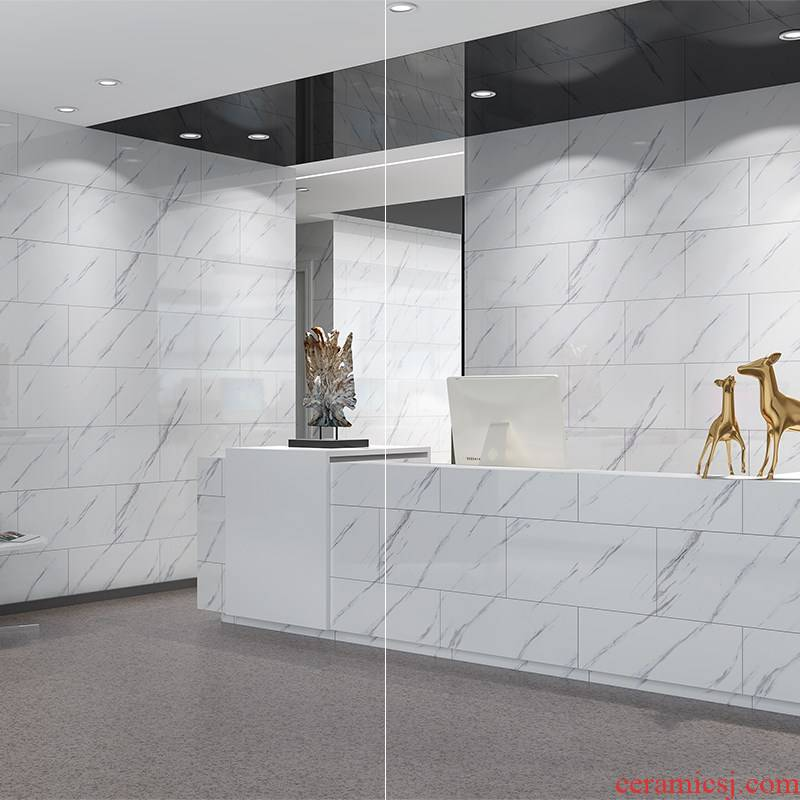 Ceramic tile adhesive marble floor toilet metope adornment waterproof which renovation kitchen oil stickers