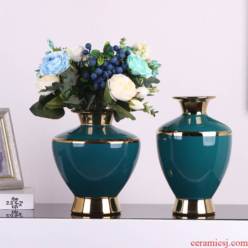 Light the key-2 luxury of modern ceramic vase soft outfit European contracted creative home sitting room TV ark, wine accessories furnishing articles