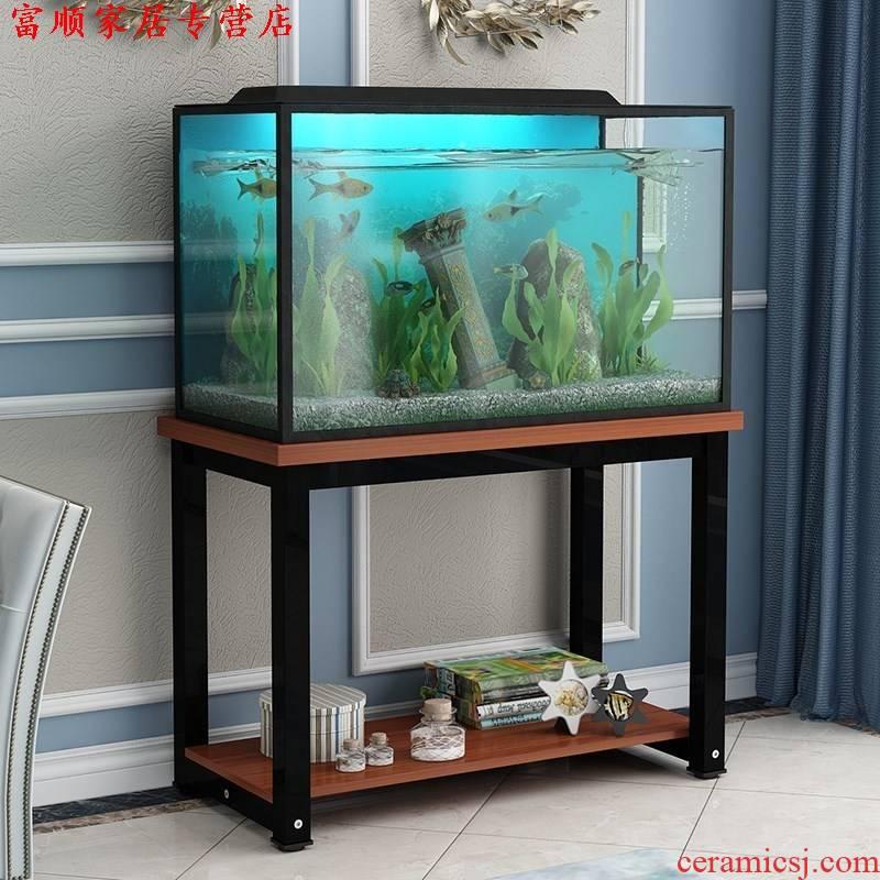 Hob anywhere base aquarium fish tank bottom ark steel chassis frame, wrought iron grass made cylinder aquarium tank