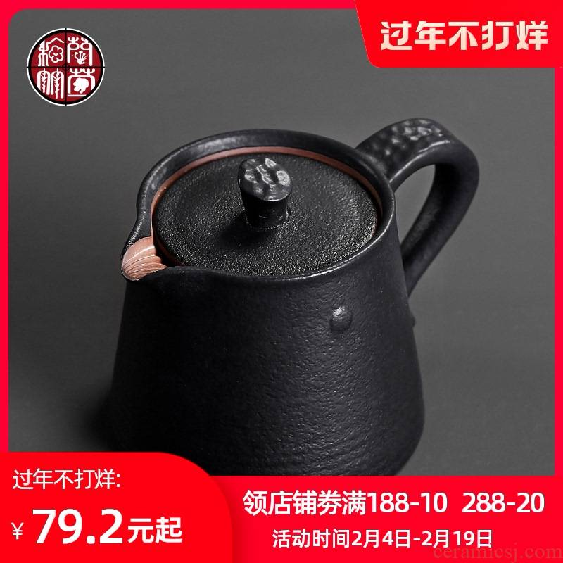 Small single ceramic pot of kung fu tea thick ceramic tea set filter are it Japanese tea taking tea pot of black tea