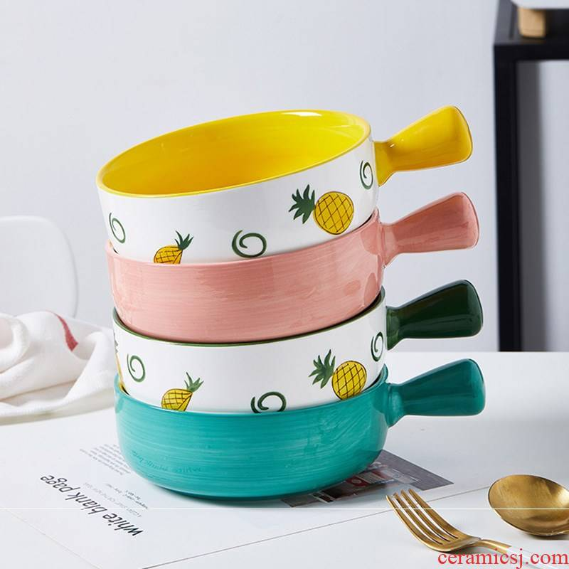 For a job the northern wind belt handle baking bowl oven with ceramic plate with tableware salad bowl noodles in soup bowl