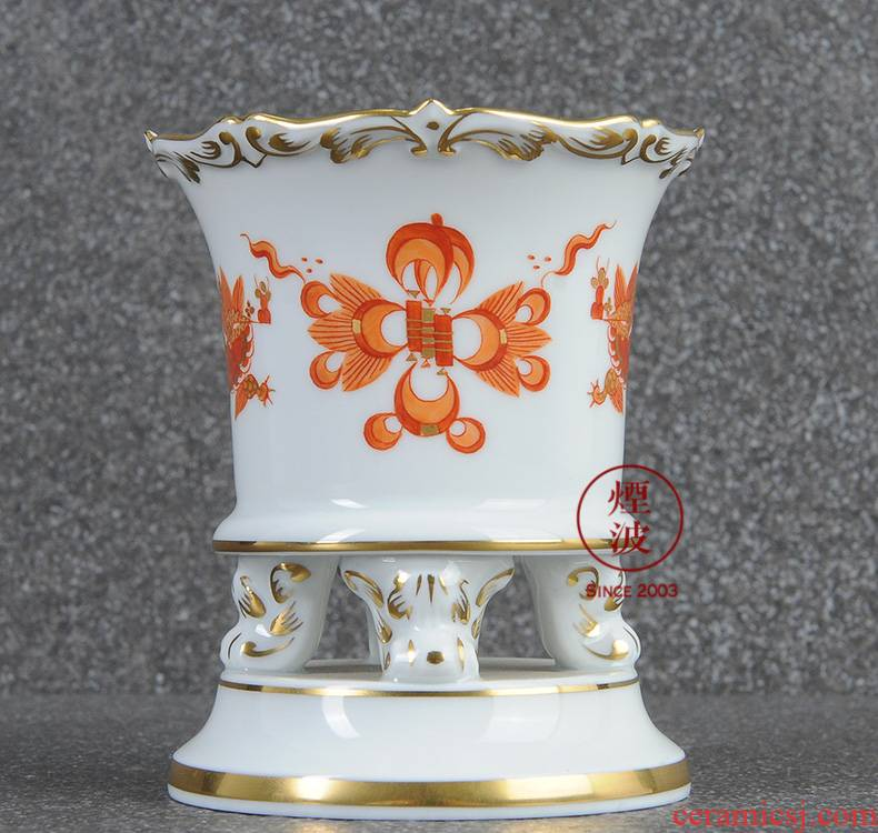 German mason MEISSEN porcelain new clipping red mesa of royal dragon vase home furnishing articles 85 mm