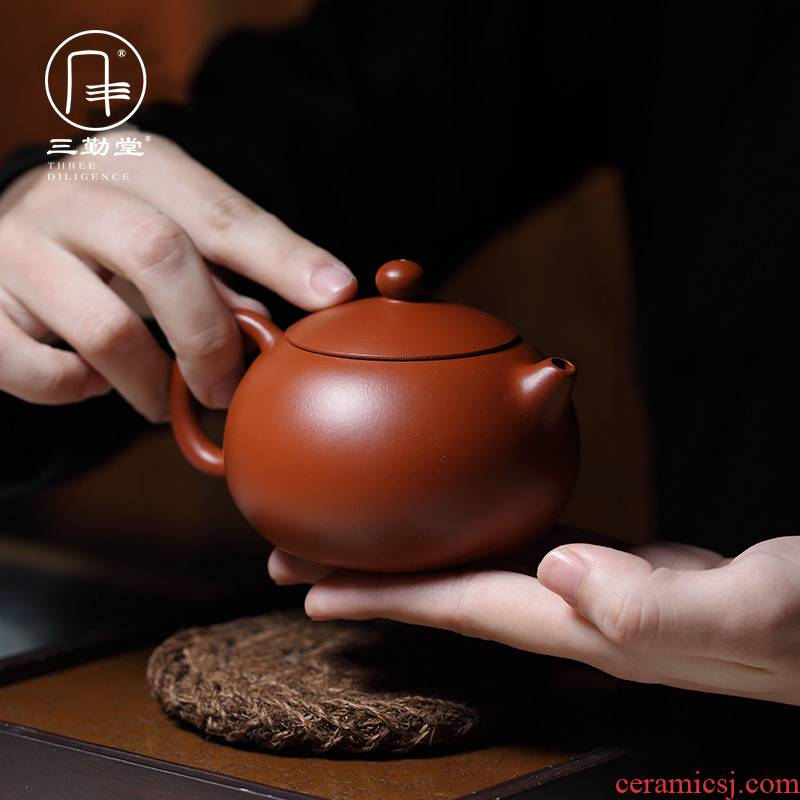 Three frequently hall are it yixing famous checking xi shi pot of kung fu tea teapot dahongpao little teapot