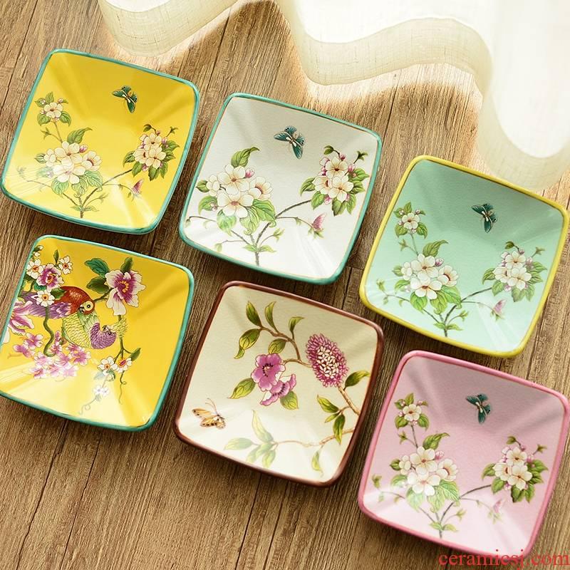 New Chinese style household ceramics creative furnishing articles ashtray ashtray sitting room tea table American desk decoration decoration
