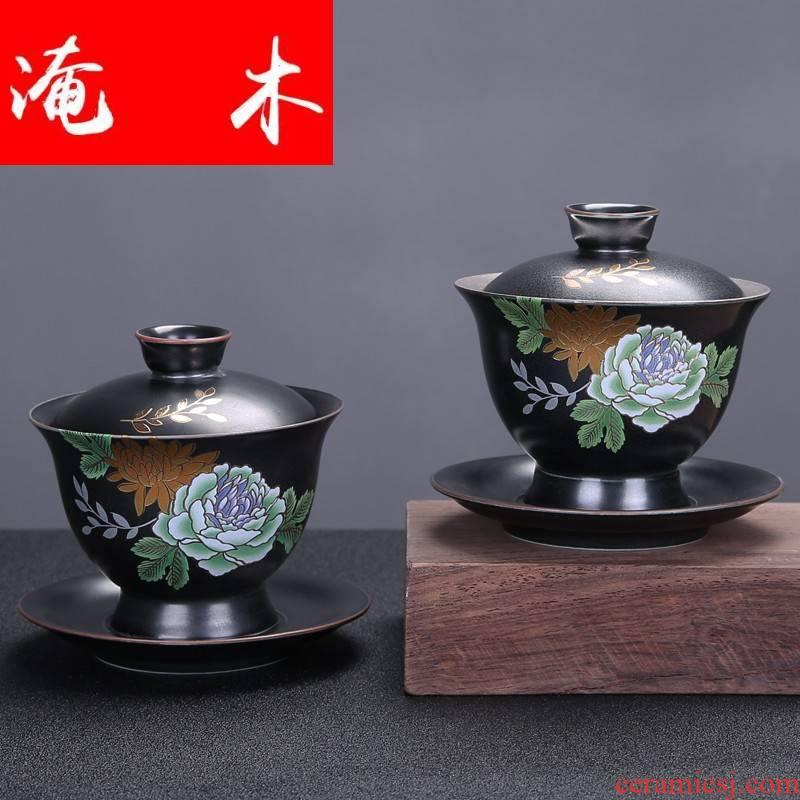 Submerged wood upscale jingdezhen manual paint set mine loader 999 sterling silver tureen kung fu tea set large blue and white porcelain ceramics