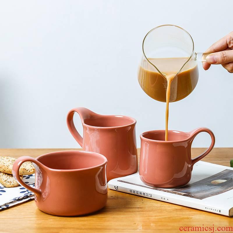 Keller Creative move ceramic keller Nordic ins coffee cup retro breakfast cereal milk cup