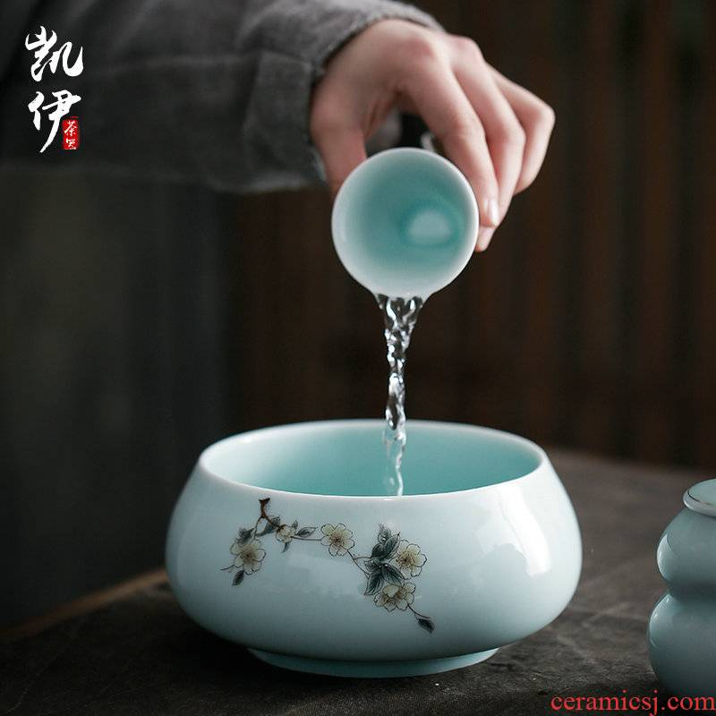 Celadon tea wash your writing brush washer from kung fu tea tea accessories cup was washed jingdezhen ceramic large tea to wash