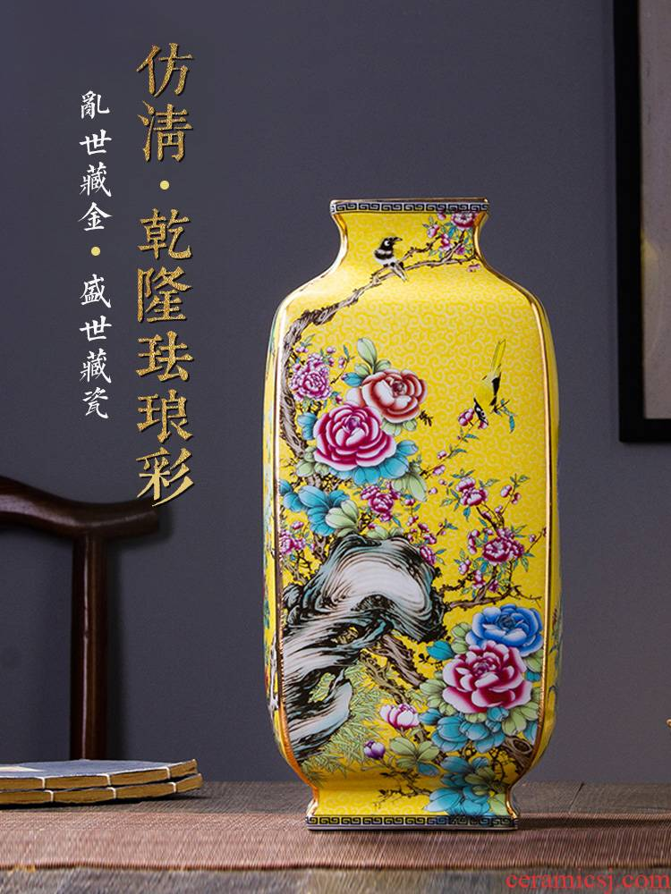 Colored enamel vase 476 jingdezhen copy antique Chinese style restoring ancient ways classical home sitting room ceramic vases, furnishing articles