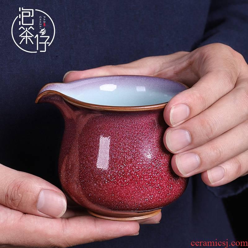 MiaoXingWei pure manual points masterpieces kunfu tea tea tea machine single common cup tea fair fair keller cup ceramics
