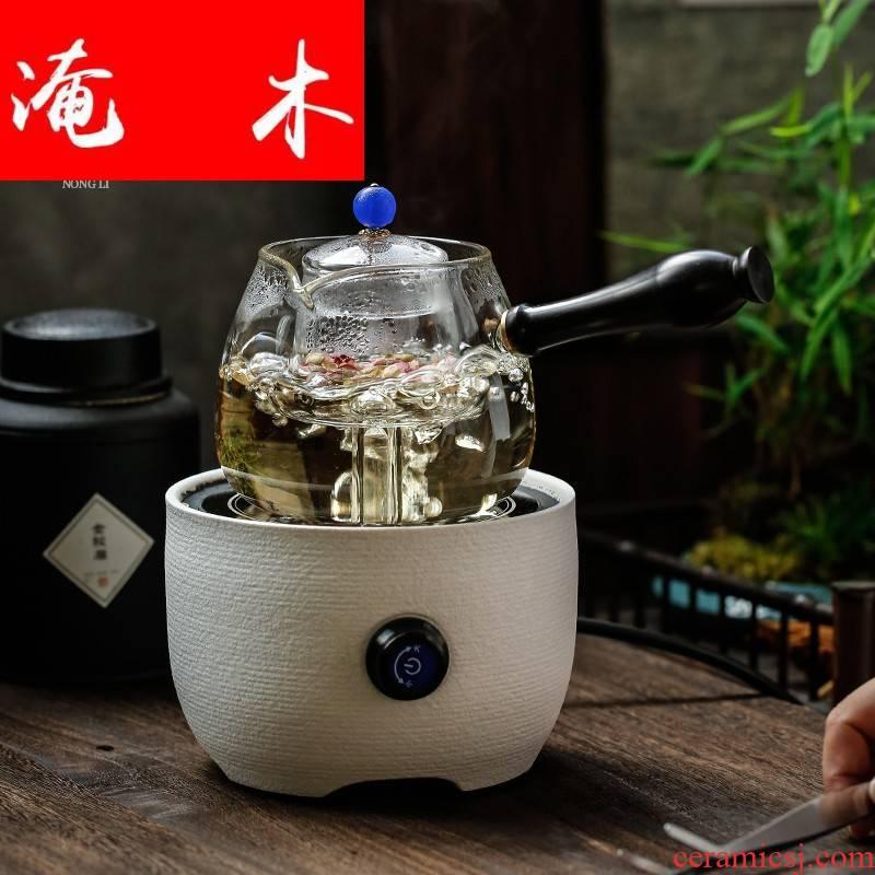 Submerged wood automatic cooked pu - erh tea, black tea, the electric TaoLu boiled tea, white tea POTS, glass teapot tea stove tea steamer side