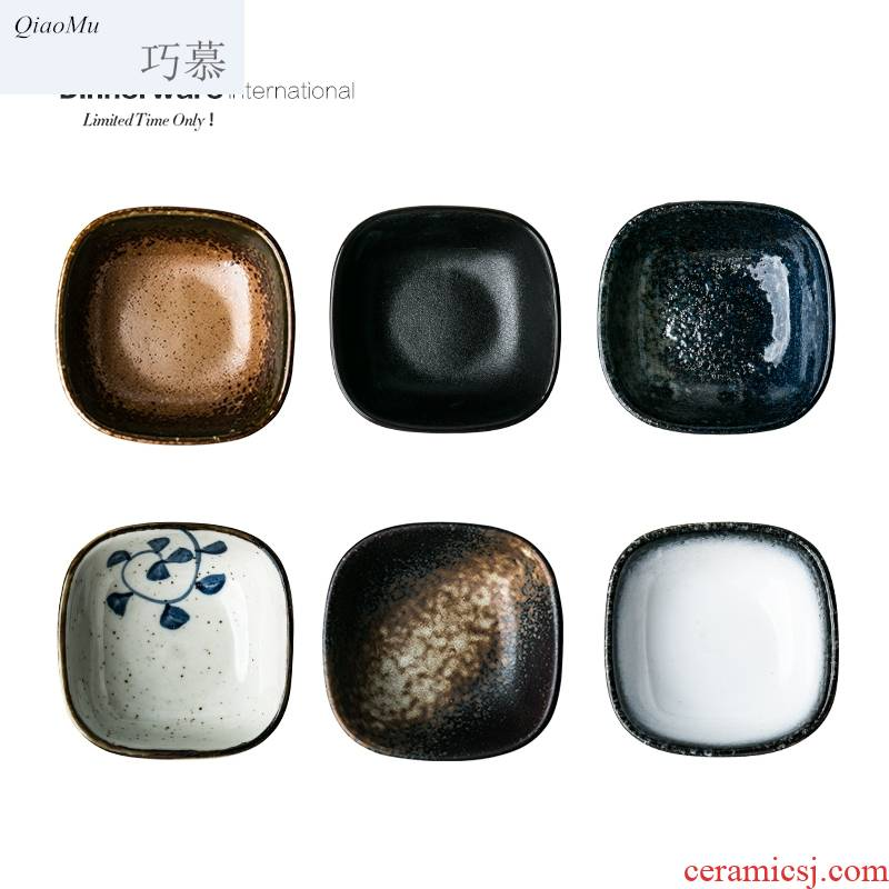 Qiao mu Japanese ceramics flavor dish 6 color restoring ancient ways into the dip disc creative snack dish dish of soy sauce dish vinegar ipads plate