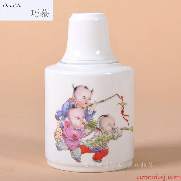 Qiao mu thin fetal ipads porcelain two temperature wine pot hot wine jingdezhen ceramic wine warm wine glass packages