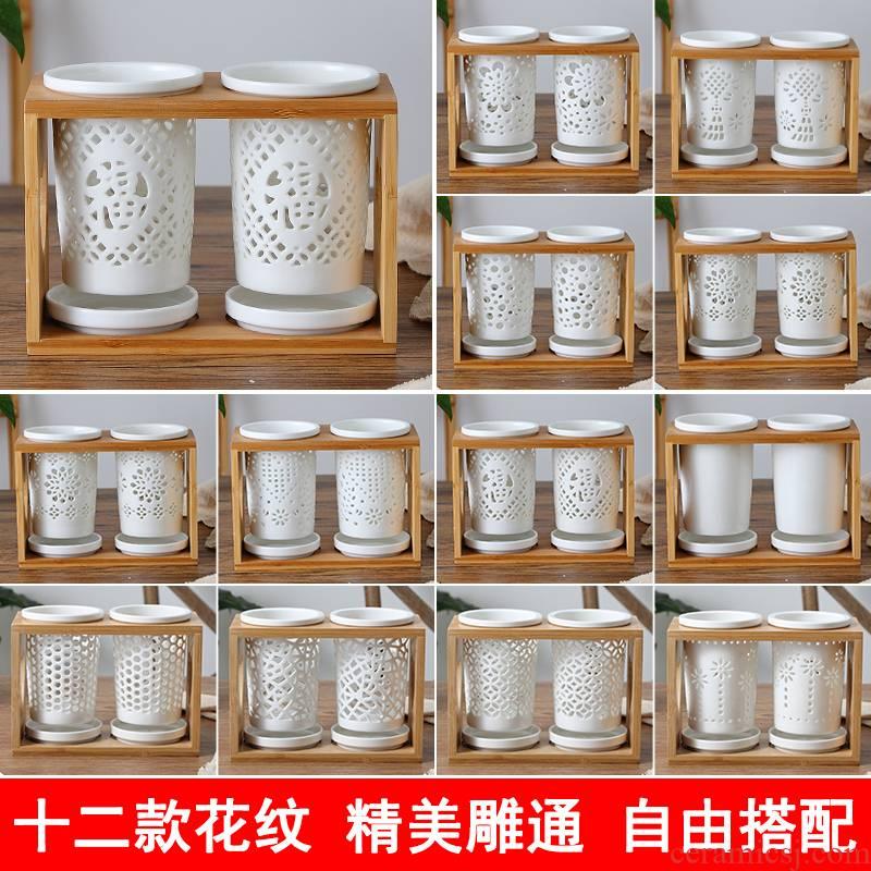 Ceramic hanging chopsticks chopsticks tube drop tube ltd. chopsticks barrels of Japanese chopsticks chopsticks basket creative household chopsticks cage