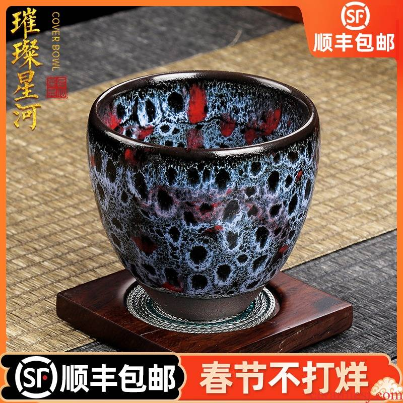 Artisan fairy up built red glaze, checking out ceramic cups kung fu tea master cup sample tea cup single CPU